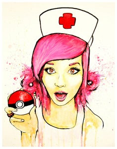 "Image of ""Nurse Joy"" 11x14in Print"
