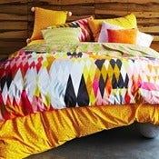 Image of Kip & Co Crocodile Orange Quilt Cover