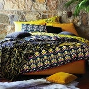 Image of Kip & Co Feathers Green Quilt Cover
