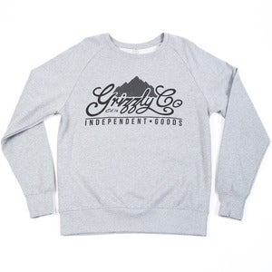 Image of Grizzly Co. - Script Sweatshirt - Ash