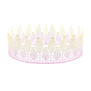 Image of Arwen. Pink Ombre Lace Crown