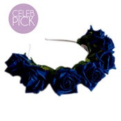 Image of Whole Lotta Rosie Headband - Navy