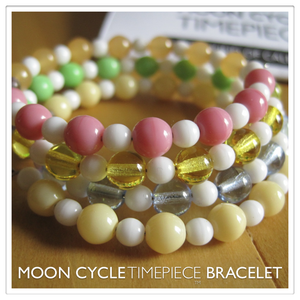 Image of Moon Cycle Timepiece Bracelet | Glass Beads | Pastels