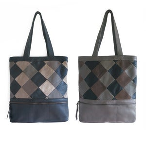 Image of ALINA Tote in Patchwork Leather