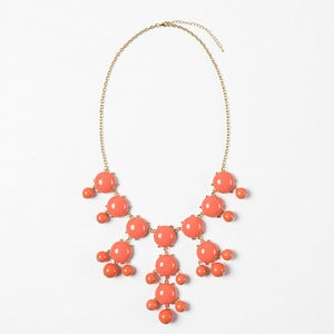 Image of Coral Bubble Necklace