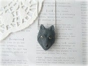 Image of Black Wolf Necklace