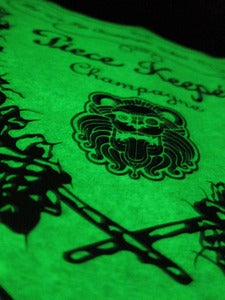 "Image of ""DOM Piecekeeper"" Tee Glow in the Dark (Black)"