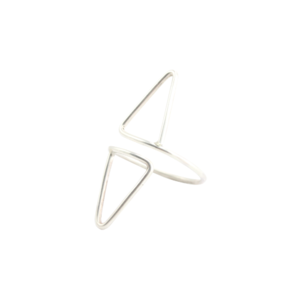 Image of Nyah. Double Point Silver Ring