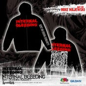 Image of INTERNAL BLEEDING - Bent On Ending Humanity - Zip Hoodie RED logo