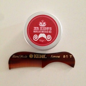 Image of Beard & Moustache Comb & Tin Of Wax Wax Combo Pack