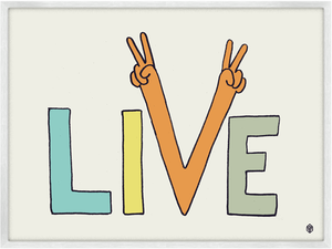 Image of Live Peacefully Print