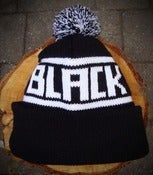 Image of Bobble Hat - Black & White.