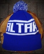 Image of Bobble Hat - Royal & White.