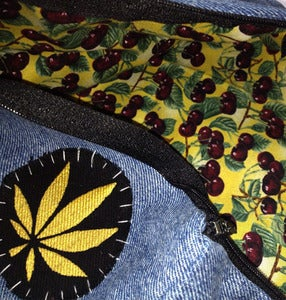 Image of SICK Makeup bag/ Pencil case - 'CHERRY WEED'