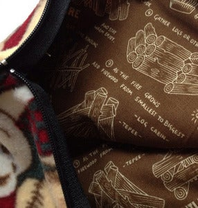 Image of SICK Makeup bag/ Pencil case - 'CAMPFIRE BEARS'