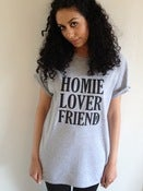 "Image of WORK IT ""HOMIE LOVER FRIEND"" GREY MARL T-SHIRT"