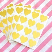 Image of Mini Gold Heart Stickers - Set of 60