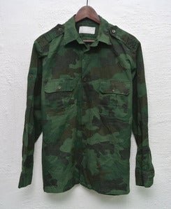 Image of Vintage army camo overshirt (M)