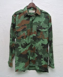 Image of Vintage army camo overshirt (M) #2