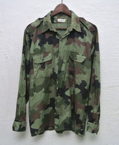 Image of Vintage army camo overshirt (M) #3