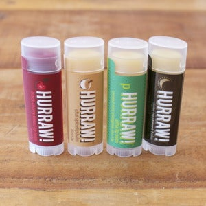 Image of Hurraw! vegan lip balms