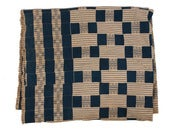 Image of Antique Textile - Blue & Cream
