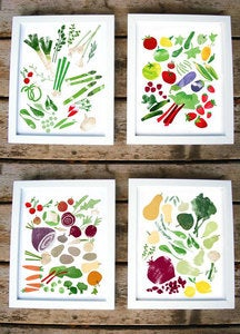 Image of In Season Prints by Redcruiser (set of 4 prints)