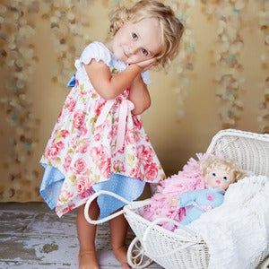 Image of The Fairytale Handkerchief Hem Dress Pattern - Girls 1 to 5 years + 6/6X, 7/8 bonus