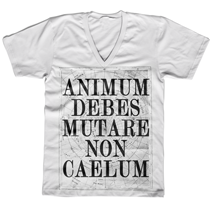Image of ANIMUM DEBES MUTARE NON CAELUM v-neck shirt