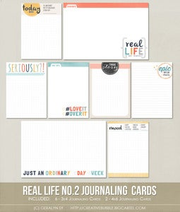 Image of Real Life no.2 Journaling Cards (Digital)