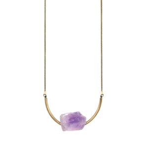 Image of Maci. Amethyst Stone Necklace