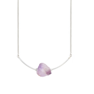 Image of Ola. Amethyst Short Necklace