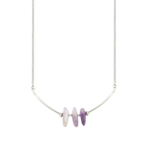 Image of Pai. Three Point Amethyst Necklace