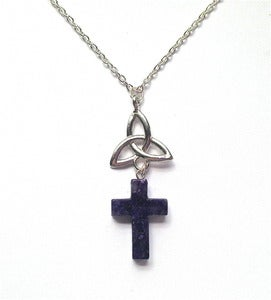 Image of Amethyst Knot Necklace