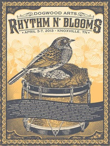 Image of Rhythm N' Blooms festival poster