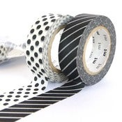 Image of Black Dots x Stripes - mt Washi Tape Duo