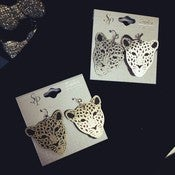 Image of Cheetah Fish Hook Earrings 