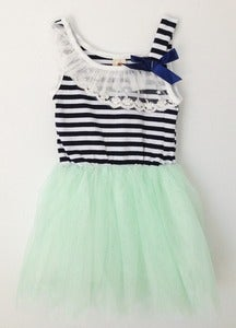 Image of Striped Mint Tutu Dress