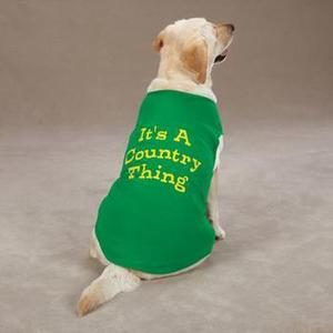 Image of Country Thing Dog Tank by Zack & Zoey - Green