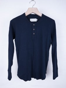 Image of Wings and Horns - Double Knit Thermal Top Navy