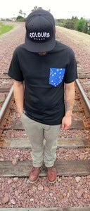 Image of Blue Bandana Print Pocket Tee