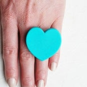 Image of Large Love Heart Ring by Pirdy