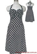Image of Rockabilly Polka Dot Halter Dress