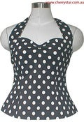Image of Rockabilly Polka-Dot Halter Top