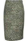 Image of Leopard Print Retro Pencil Skirt