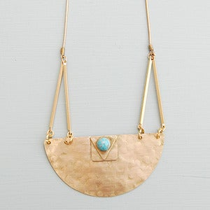 Image of Brass Halfmoon Necklace by Rachel Loves Bob