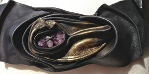 Image of Amethyst & Gold Belt -SOLD