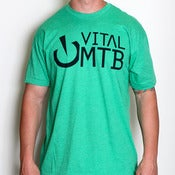 Image of Stack Logo T-Shirt, Heather Kelly Green