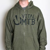 Image of Stack Logo Hoody, Army Heather