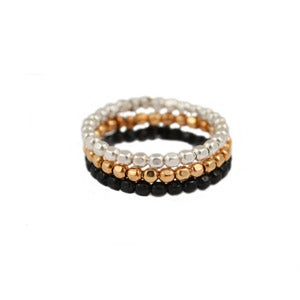 Image of Mixed Metal Triple Stacked Ring